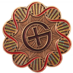 DNA Geocoin - Antique Copper